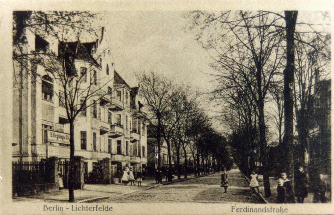Historische Aufnahme der Ferdinandstraße.