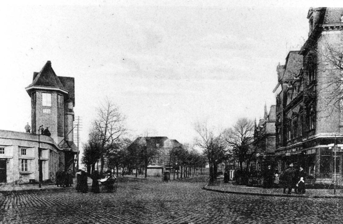 Historische Aufnahme des Kranoldplatzes. Anfang des 20. Jahrhunderts. © Steglitz-Museum
