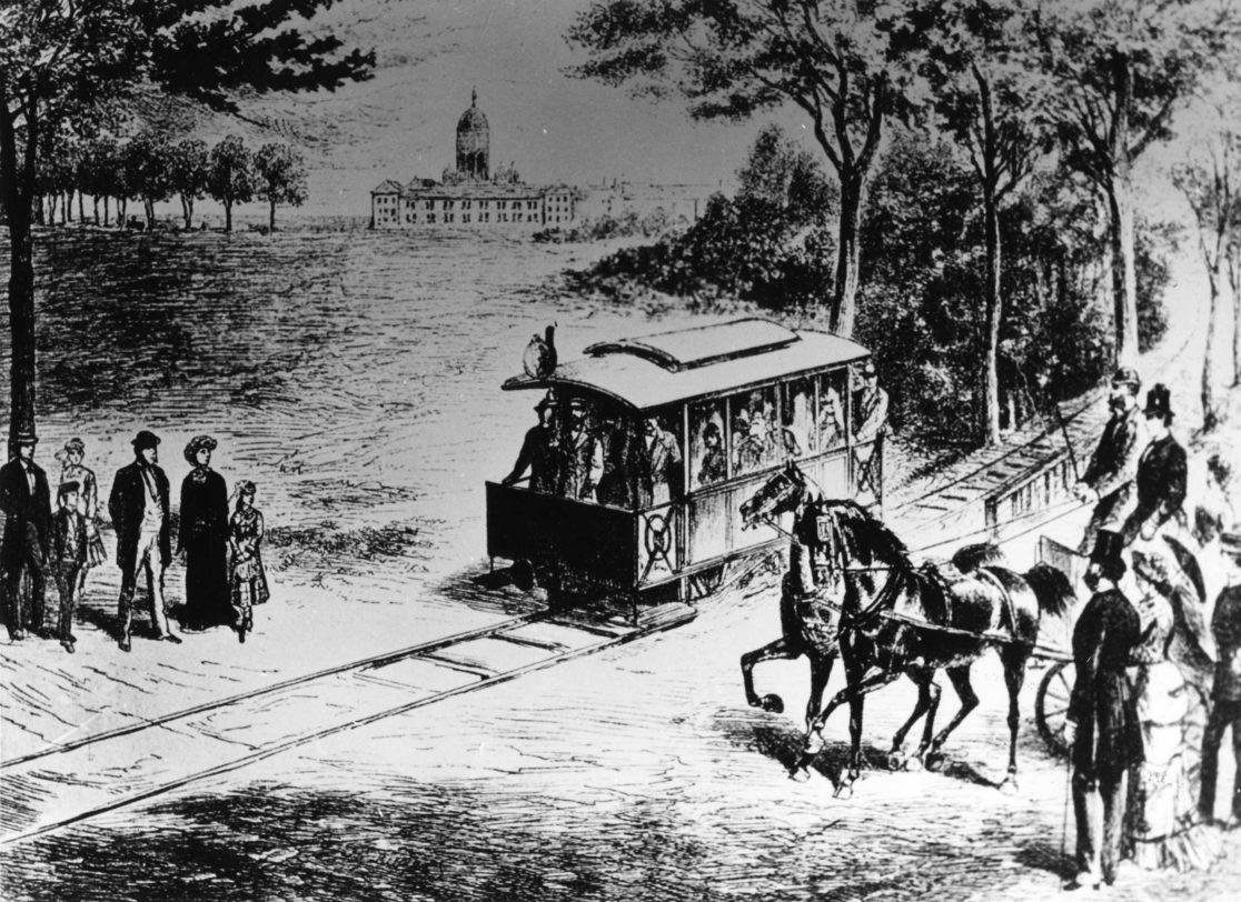 Erste Tram-Linie der Welt in Lichterfelde Ost.